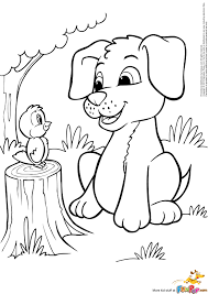 Small Picture Cartoon Puppy Coloring Pages GetColoringPagescom