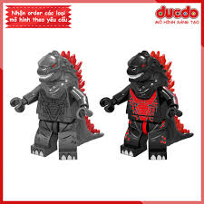 Minifigures Quái vật khổng lồ Godzilla - Đồ Chơi Lắp Ghép Xếp Hình Mini Mô  hình LeLe