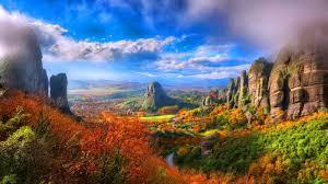 autumn mountains backgrounds. Fall Valley Autumn Scenic Colors Sky Mountains Trees Nature Views Landscape Desktop Backgrounds