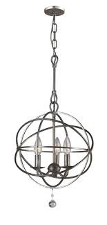 crystorama 9225 solaris small 3 light contemporary mini chandelier loading zoom