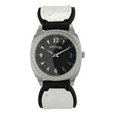 western watches montana silversmiths stroke of midnight leather band watch wch3342nf