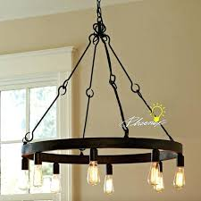 edison bulb chandelier antique bulbs iron in rusted finish free wilson fisher battery operated