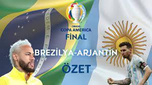 Copa America'da şampiyon Brezilya'yı deviren Messi'li Arjantin