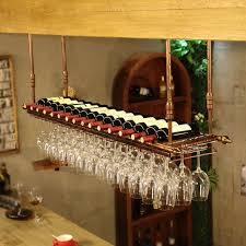 Amazoncom Bronze Wine Rack Retro Industrial Style Bar Wine