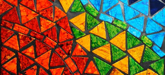 mosaic art can be made with any variety of glass tile or stone considering that the patterns can be as abstract or colorful as you d like your finished