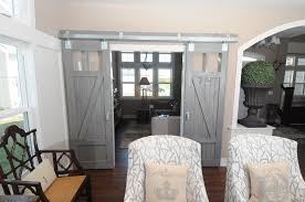 white interior barn doors. Decorations Inspiration ~ Absorbing Barn Doors For Homes With Creative Interior Design: Picturesque Grey Finished White