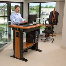 cherry custom home office desk. Incredible Standing Desk Workstation Costco Stand Up Type 32 45 X Computer Decor Cherry Custom Home Office D