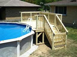 Pool Decks Above Ground Image Of For Pools Cost Deck Plans Free