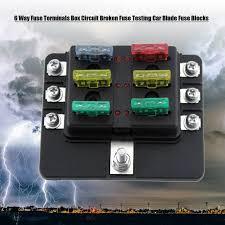 aliexpress com buy 6 way fuse terminals box dc 32v circuit blown circuit breaker at Broken Fuse Box