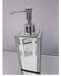 crystal bathroom accessories. Bella Lux Mirror Rhinestone Crystal Soap/lotion Dispenser Bathroom Accessory Accessories O