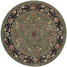safavieh total performance green black 8 ft x 8 ft round area rug