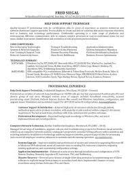 Sample Tech Support Resume Support Cv Sample Helpdesk Writing Good