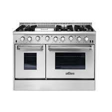 gas range. Thor Kitchen HRG4808U 48-in 4.2/2.5 Cubic Ft Professional Stainless Steel Gas Range G