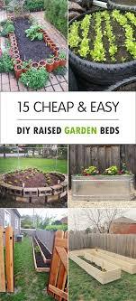 how to build a garden. 15 Cheap \u0026 Easy DIY Raised Garden Beds How To Build A E