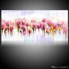 2018 kgtech modern handmade fl art pink tulip flowers oil paintings 48 inches large size canvas art wall decor from kg2016 41 9 dhgate com