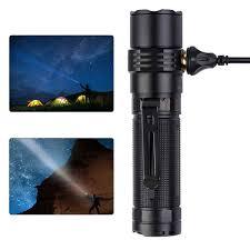 Chống Thấm Nước MC3 Từ USB Sạc EDC Đèn Pin LED 2500 Lumens Đèn Led Cắm Trại  Đèn Led Có Hộp Làm Quà Tặng|Đèn Flash & Đèn Pin