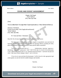 harment cease and desist letter