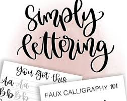 how to hand letter hand lettering etsy