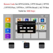 Renew Code Brazil TV Box Activation Code for HTV IPTV5 6 Plus / A2 TV Box  Brazil Brazilian TV Box Subscription Service Valid for 400 Days - Buy Online  in Malta.