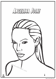 Creative Inspiration Famous People Coloring Pages Angelina Jolie Of