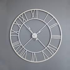Large White Skeleton Wall Clock ...