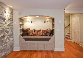 basement ideas for kids area. Modern Furniture For Cool Basement Ideas With Big Brown Sofa Kids Area