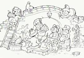 Coloring Pages Park Scene Playground P On Water Park Coloring Pages