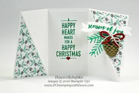 fold card guest author on splitcoaststampers with christmas pines twist gate