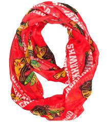 infinity scarf. chicago blackhawks infinity scarf