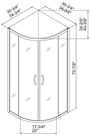 dreamline dl 6161 sector shower enclosure base and