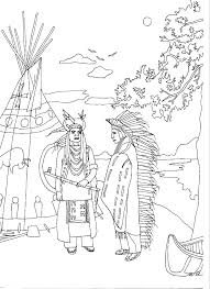 Native American Coloring Page Metabolismdietinfo