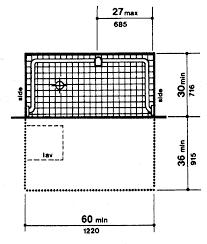 ada bathroom counter height. ada bathroom dimensions | compliant counter height handicap rail d
