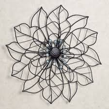 touch to zoom on white metal flower wall art with beauty in bloom flower blossom metal wall art
