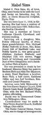 Obituary for Mabel G. Flick Sims, 1916-2001 (Aged 65) - Newspapers.com