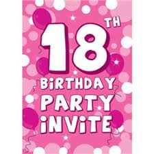 B Day Invitation Cards 40th Birthday Invitation Cards Pink Sparkle Medium