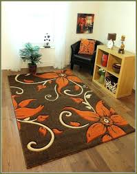 brown area rugs very nice fl brown area rug with orange flowers brown area rugs with