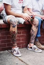 Nice Old School Inked Legs Tattoo тату татуировки на ногах для