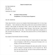 Template For A Letter Of Complaint Employee Complain Letter