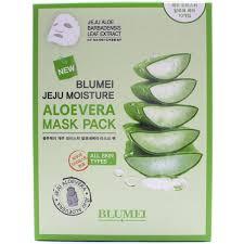 Blumei Jeju Moisture Aloe Mask <b>Тканевая маска</b> для лица <b>с Алоэ</b> ...
