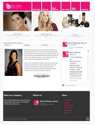 blush makeup artistry brand clever digital geelong web design graphic design
