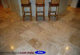 polished travertine floor this floor in was also cleaned honed and sealed the cleaning removes the soil and dirt even from the small holes in the surface