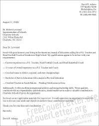 Experienced Teacher Cover Letters Physical Education Teacher Cover Letter Sample