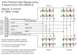 signal head wiring additional marker lights for speed indications if your situation requires a single fixed marker indication and does not also require the lunar aspect