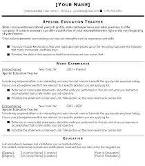 Teacher Resume Objective Samples – Fdlnews