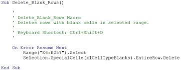 Excel Vba Delete Blank Or Empty Rows 5 Easy To Use Macro Examples