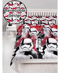 star wars episode viii trooper double reversible duvet cover set