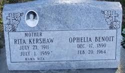 Ophelia Benoit Broussard (1890-1964) - Find A Grave Memorial