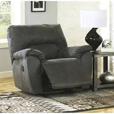ashley furniture reclining chairs signature design by furniture fabric rocker recliner in pewter ashley furniture recliner ashley furniture reclining