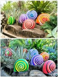 garden sculptures diy painted snail sculptures colorful garden art decorating ideas garden sculpture diy projects