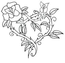 coloring pages roses and hearts with wings halo 4 pictures flowers in a vase wit